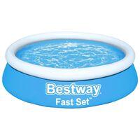 Bestway Πισίνα Φουσκωτή Στρογγυλή Fast Set Μπλε 183 x 51 εκ.