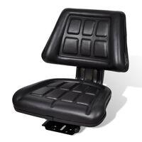 vidaXL Κάθισμα Τρακτέρ με Πλάτη Μαύρο