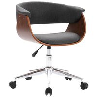vidaXL Καρέκλα Γραφείου Περιστρεφόμενη Γκρι από Λυγισμένο Ξύλο/Ύφασμα