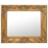 vidaXL Καθρέφτης Τοίχου με Μπαρόκ Στιλ Χρυσός 50 x 40 εκ.