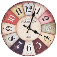 vidaXL Ρολόι Τοίχου Vintage Πολύχρωμο 30 εκ.