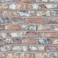 DUTCH WALLCOVERINGS Ταπετσαρία Τοίχου Τούβλα Πολύχρωμη EW3103