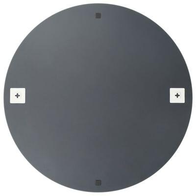 vidaXL Καθρέφτης Στρογγυλός 80 εκ. Γυάλινος Χωρίς Πλαίσιο