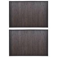 Πατάκια Μπάνιου 2 τεμ. Σκούρο Καφέ 40 x 50 εκ. από Μπαμπού
