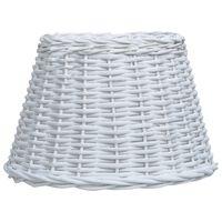 vidaXL Καπέλο Φωτιστικού Λευκό 50 x 30 εκ. από Wicker