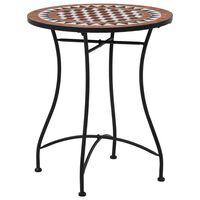 vidaXL Τραπέζι Bistro «Μωσαϊκό» Καφέ 60 εκ. Κεραμικό