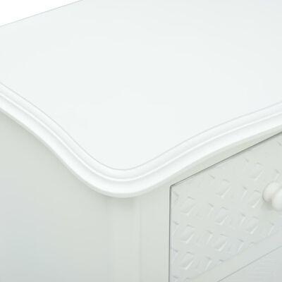 vidaXL Κομοδίνο Λευκό 43 x 32 x 65 εκ. από MDF