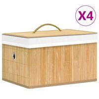 vidaXL Κουτιά Αποθήκευσης 4 τεμ. από Μπαμπού