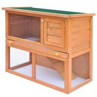 vidaXL Κλουβί Κουνελιών/Σπίτι Μικρών Ζώων Εξωτ. Χώρου 1 Πόρτα Ξύλινο