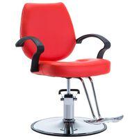 vidaXL Πολυθρόνα Κουρείου Κόκκινη από Συνθετικό Δέρμα