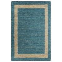 vidaXL Χαλί Χειροποίητο Μπλε 80 x 160 εκ. από Γιούτα