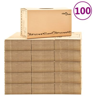 vidaXL Χαρτοκιβώτια Μετακόμισης 100 τεμ. XXL 60 x 33 x 34 εκ.