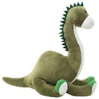 vidaXL Βροντόσαυρος Λούτρινος Μαλακός Πράσινος