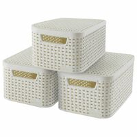 Curver Κουτιά Αποθήκευσης + Καπάκια Style 3 τεμ Λευκά Μέγεθος S 240586