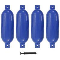 vidaXL Μπαλόνια Σκάφους 4 τεμ. Μπλε 58,5 x 16,5 εκ. από PVC