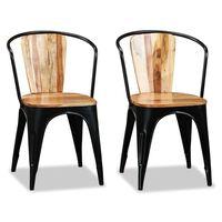 vidaXL Καρέκλες Τραπεζαρίας 2 τεμ. από Μασίφ Ξύλο Ακακίας