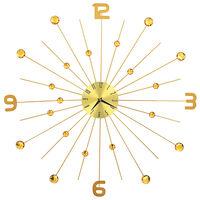 vidaXL Ρολόι Τοίχου Χρυσό 70 εκ. Μεταλλικό