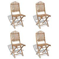 vidaXL Καρέκλες Πτυσσόμενες 4 τεμ. από Μπαμπού