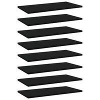 vidaXL Ράφια Βιβλιοθήκης 8 τεμ. Μαύρα 60x30x1,5 εκ. από Μοριοσανίδα