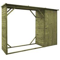 vidaXL Υπόστεγο Καυσόξυλων / Αποθήκη Κήπου 253x80x170 εκ. Ξύλο Πεύκου