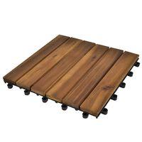 Σετ Πλακάκια Deck 20 τεμ. 30 x 30 από Ξύλο Ακακίας
