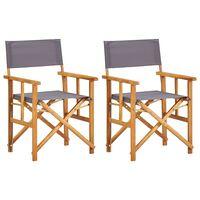 vidaXL Καρέκλες Σκηνοθέτη 2 τεμ. από Μασίφ Ξύλο Ακακίας