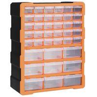 vidaXL Κουτί Αποθήκευσης/Οργάνωσης με 39 Συρτάρια 38 x 16 x 47 εκ.