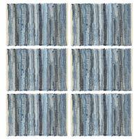 vidaXL Σουπλά Chindi 6 τεμ. Denim Μπλε 30 x 45 εκ. Βαμβακερά