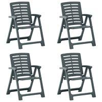 vidaXL Καρέκλες Κήπου 4 τεμ. Πράσινες Πλαστικές