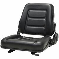 vidaXL Κάθισμα Περονοφόρου Ανυψωτικού/Τρακτέρ με Ρυθμιζ. Πλάτη Μαύρο