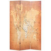 vidaXL Διαχωριστικό Δωματίου Πτυσσόμενο Χάρτης Κίτρινο 120 x 170 εκ.