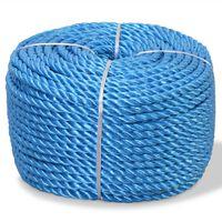 vidaXL Σχοινί Στριφτό Μπλε 16 χιλ. 100 μ. από Πολυπροπυλένιο