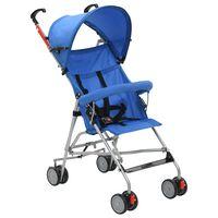 vidaXL Καρότσι Παιδικό Πτυσσόμενο Μπλε Ατσάλινο