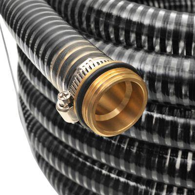 vidaXL Σωλήνας Αναρρόφησης Ορειχάλκινες Συνδέσεις Μαύρος 4 μ./25 χιλ.