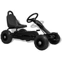 vidaXL Go Kart με Πετάλια και Λάστιχα Πεπιεσμένου Αέρα Μαύρο