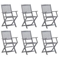 vidaXL Καρέκλες Εξωτ. Χώρου Πτυσσόμενες 6 τεμ. από Μασίφ Ξύλο Ακακίας