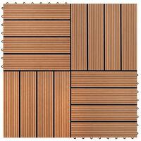 vidaXL Πλακάκια Deck 22 τεμ. Καφέ 30 x 30 εκ. 2 μ² από WPC