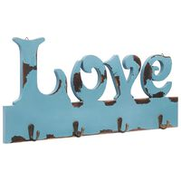 vidaXL Κρεμάστρα Τοίχου «LOVE» 50 x 23 εκ.