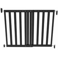 Noma Πόρτα Ασφαλείας Επεκτεινόμενη Μαύρη 63,5 - 106 εκ. Ξύλινη 93743