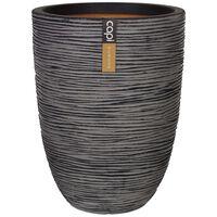 Capi Βάζο Nature Rib Elegant Low Ανθρακί 36 x 47 εκ. KOFZ782