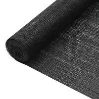 vidaXL Δίχτυ Σκίασης Μαύρο 1 x 50 μ. από HDPE 75 γρ./μ²