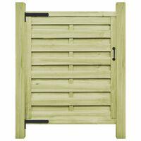 vidaXL Πόρτα Φράχτη Πράσινη 100 x 150 εκ. Εμποτισμένο Ξύλο Πεύκου