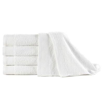 vidaXL Πετσέτες Χεριών 5 τεμ. Λευκές 450 γρ/μ² 50 x 100 εκ. Βαμβάκι