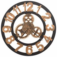 vidaXL Ρολόι Τοίχου Χρυσό / Μαύρο 58 εκ. Μεταλλικό