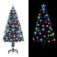 vidaXL Χριστουγεννιάτικο Δέντρο Τεχνητό 135 Κλαδιά 120 εκ. με Βάση/LED