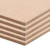 vidaXL Φύλλα MDF 20 τεμ. Τετράγωνα 60 x 60 εκ. 2,5 χιλ.