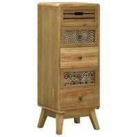 vidaXL Συρταριέρα με 5 Συρτάρια Καφέ 37 x 30 x 97,5 εκ. Ξύλινη