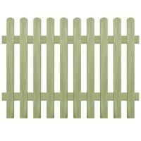 vidaXL Φράχτης Κήπου 170 x 120 εκ. 6/9 εκ. από Εμποτισμένο Ξύλο Πεύκου