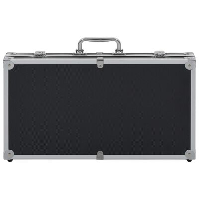 vidaXL Βαλίτσα Όπλου Μαύρη από Αλουμίνιο και ABS