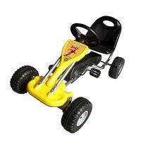vidaXL Go Kart με Πετάλια Κίτρινο